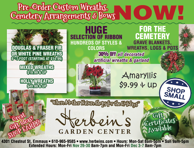 Herbeins Garden Center Ad for week of 11/13-11/19/2018