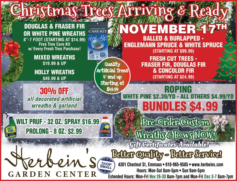 Herbeins Garden Center Ad for week of 11/13-11/19/2018